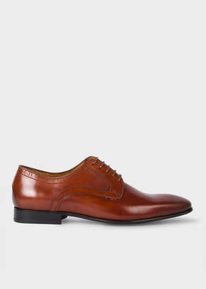 Paul Smith Men's Tan Calf Leather 'Roth' Derby Shoes
