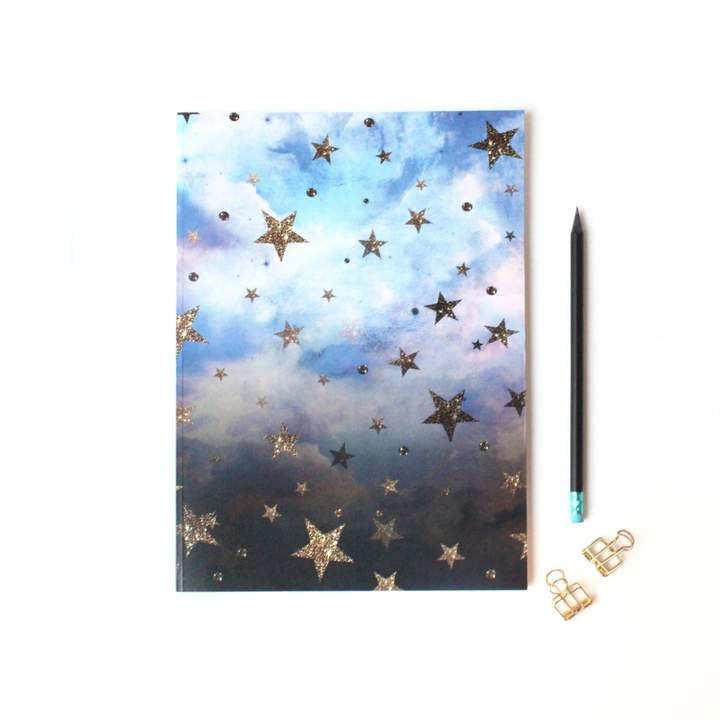 Nikki Strange - A4 Luxury Cloudy Stars Notebook