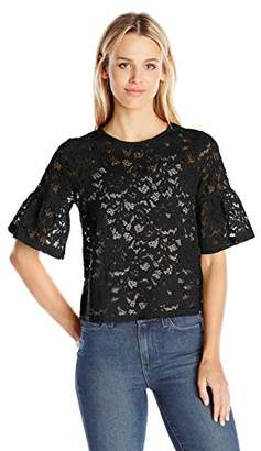 Paris Sunday Women's Short Sleeve Lace Top