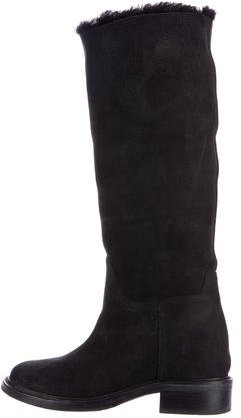 Chanel Suede Knee-High Boots