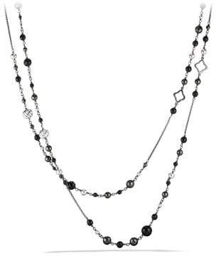 David Yurman Bijoux Bead And Chain Necklace With Black Onyx And