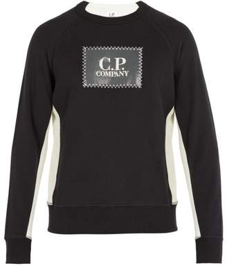 C.P. Company Logo Patch Cotton Sweatshirt - Mens - Black