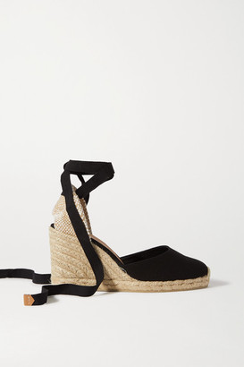 Castaner Carina 80 Canvas Wedge Espadrilles - Black