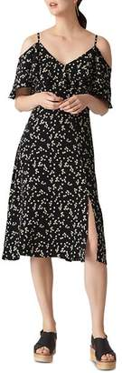 Whistles Daisy Print Cold-Shoulder Dress
