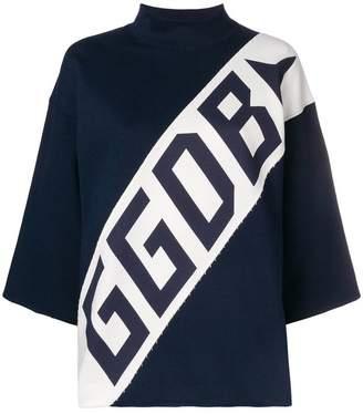 Golden Goose logo funnel-neck sweater