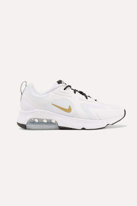 Nike Air Max 200 Leather-trimmed Felt And Mesh Sneakers - White