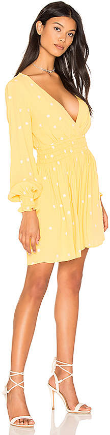 For Love & Lemons Chiquita Long Sleeve Dress in Yellow 2