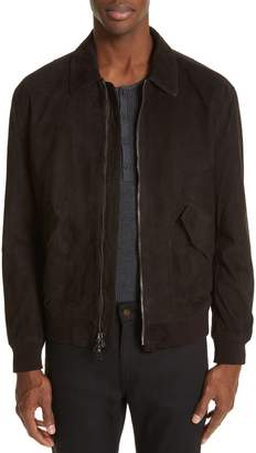 John Varvatos Suede Flight Jacket
