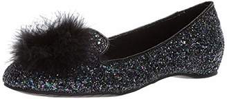 Kenneth Cole Reaction Women's Gen-ie Bottle Glitter Ballet Flat with Feather Pom