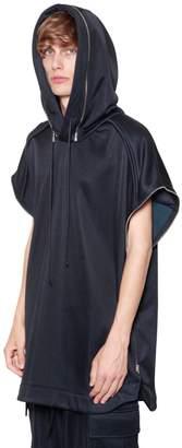 Juun.J Oversize Zip Hooded Cotton Sweatshirt
