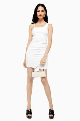 Topshop White Joni Denim Bodycon Dress