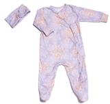Baby Grey Footie & Head Wrap Set