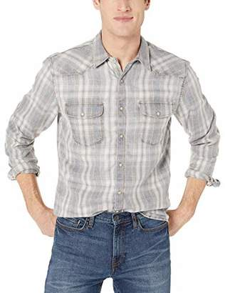 404bab78 Lucky Brand Men's Long Sleeve Button UP Workwear Stretch Shirt in