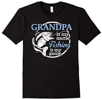 Grandpa T-Shirt - Fishing is My Game!