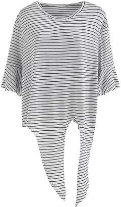 Goodnight Macaroon 'Kinley' Striped Tied Boat Neck T-Shirt (3 Colors)