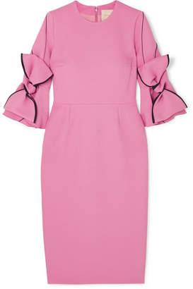 Roksanda Lavete Bow-embellished Crepe Midi Dress - Pink