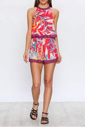 Flying Tomato Abstract Floral Romper