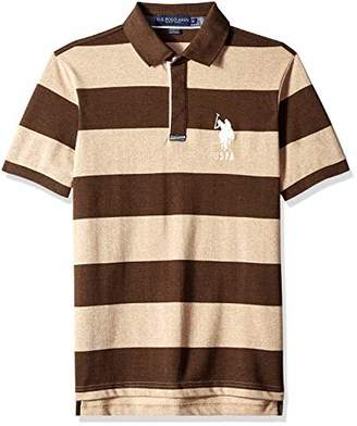 U.S. Polo Assn. Men's Short Sleeve Classic Fit Jacquard Polo Shirt