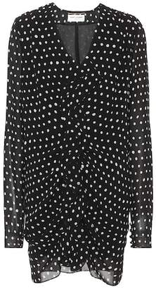 Saint Laurent Polka-dot crêpe minidress