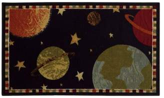 Newcastle Home Jubliee Outta This World Black and Gold Rug