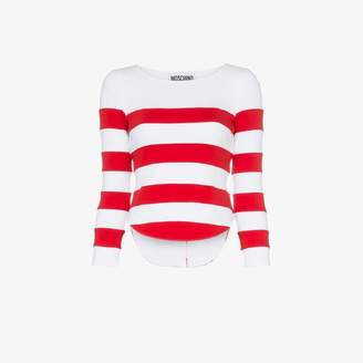 Moschino stripe fitted long sleeved top