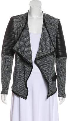 Generation Love Vegan Leather-Trimmed Woven Jacket