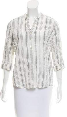 Closed Stripe V-Neck Blouse