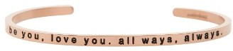 Women's Mantraband Be You Love You Engraved Cuff $35 thestylecure.com