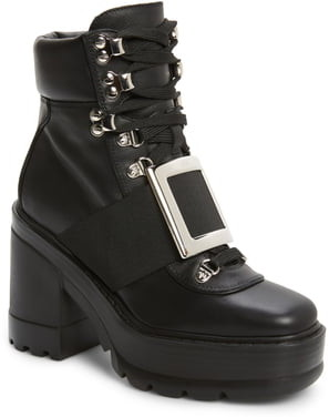 Roger Vivier Buckle Platform Hiking Boot