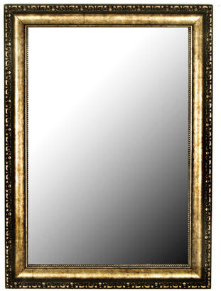 Hitchcock Butterfield Company Roman Beaded Silver Gold Wall Mirror