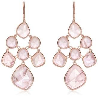 Monica Vinader RP Siren Chandelier Rose Quartz earrings