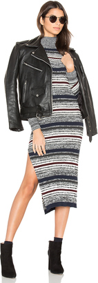 Obey Hanna Mock Neck Dress $79 thestylecure.com