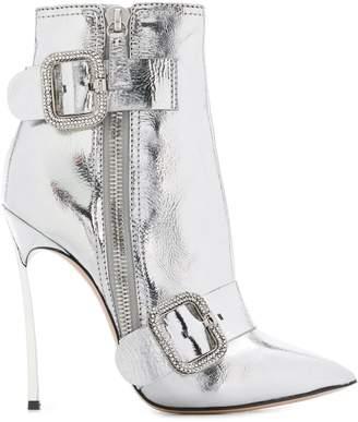 Casadei metallic stiletto ankle boots