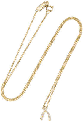 Jennifer Meyer Wishbone 18-karat Gold Diamond Necklace
