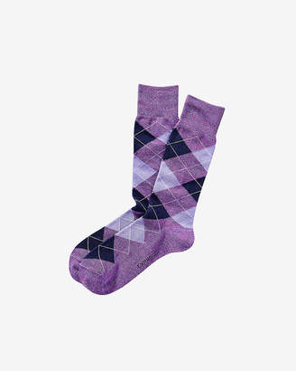 Express Heathered Argyle Dress Socks