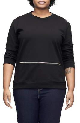 Universal Standard Equator Zip Trim Sweatshirt