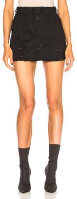 Ann Demeulemeester Distressed Denim Skirt