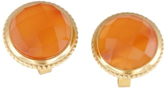 Sterling & 14K Gold-Plated Gemstone Stud Earrings