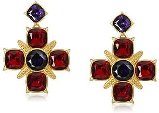 Nicole Miller Gothic Cross Drop Earrings