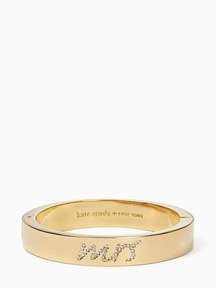 Kate Spade Her Day To Shine Mrs. Bangle, Clear/Gold