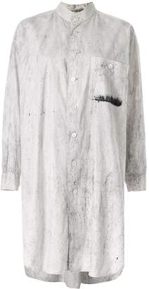Issey Miyake Pre-Owned marble effect shirt dress