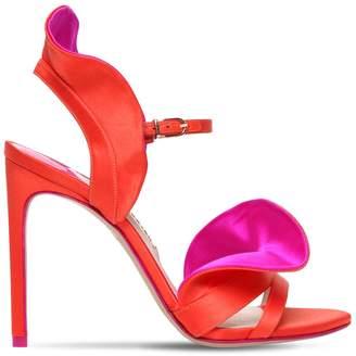Sophia Webster 110mm Lucia Ruffled Satin Sandals
