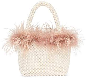 Loeffler Randall Mina Mini Beaded Feather Tote