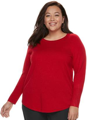 Apt. 9 Plus Size Metallic Crewneck Sweater