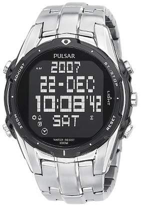 PULSAR Men's Pulsar Digital World Time Chronograph - Silver Tone - PQ2001 $109.99 thestylecure.com