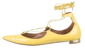 Aquazzura Christy Patent Leather Flats