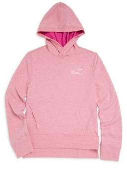 Vineyard Vines Little Girl's& Girl's Long-Sleeve French Terry Whale Hoodie