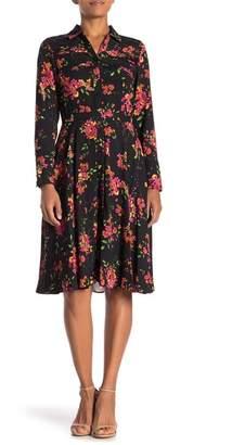 Nanette Lepore NANETTE Floral Crepe Shirt Dress
