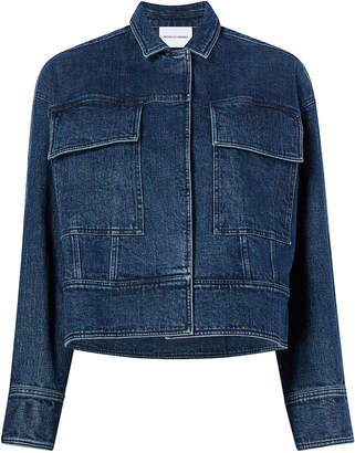 Michelle Waugh Emilie Cropped Cotton Denim Jacket