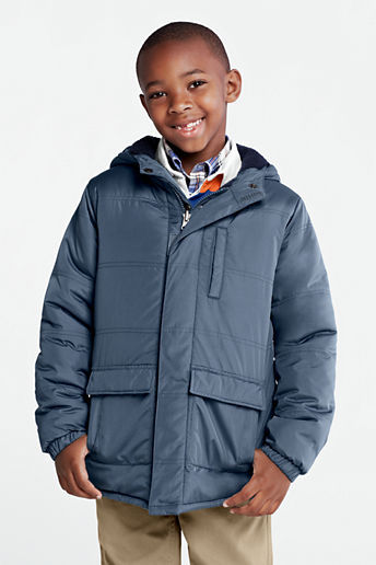 Lands' End Little Boys' Reversible Fleece Jacket